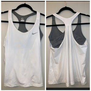 Nike Women's dri fit tank with built in bra Sz  XL